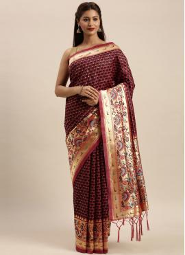 Wine Festival Silk Traditional Designer Saree
