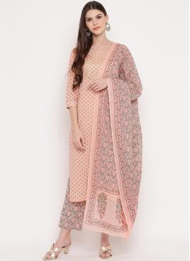 Winsome Cotton Printed Multi Colour Designer Suit