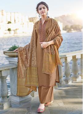 Winsome Cotton Silk Print Designer Palazzo Suit