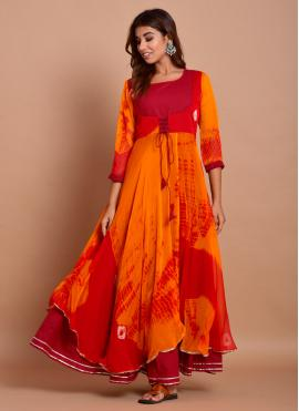 Winsome Printed Festival Designer Gown