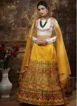 Winsome Thread Work Silk Designer Lehenga Choli