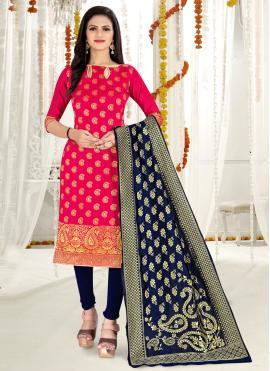 Winsome Weaving Banarasi Silk Churidar Salwar Kameez