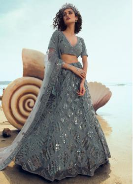 Wonderous Net Sequins Designer Lehenga Choli
