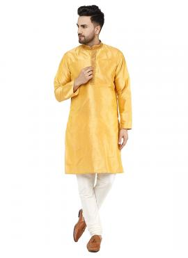 Yellow Color Kurta Pyjama