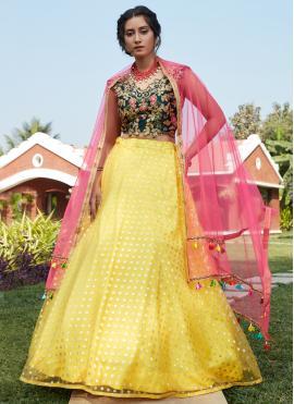 Yellow Fancy Lehenga Choli