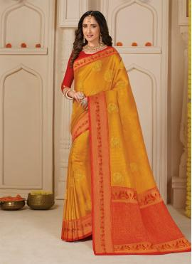 Yellow Festival Silk Trendy Saree