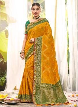Yellow Resham Traditional Saree