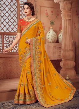 Yellow Silk Party Classic Designer Saree