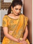 Yellow Silk Patch Border Traditional Designer Saree - 1