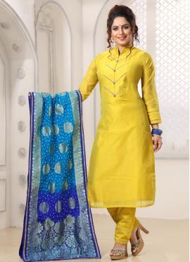 Yellow Thread Party Salwar Kameez