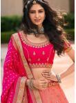 Zari Banarasi Silk Trendy Lehenga Choli in Pink - 2