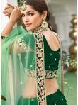 Zari Silk Lehenga Choli in Green - 2